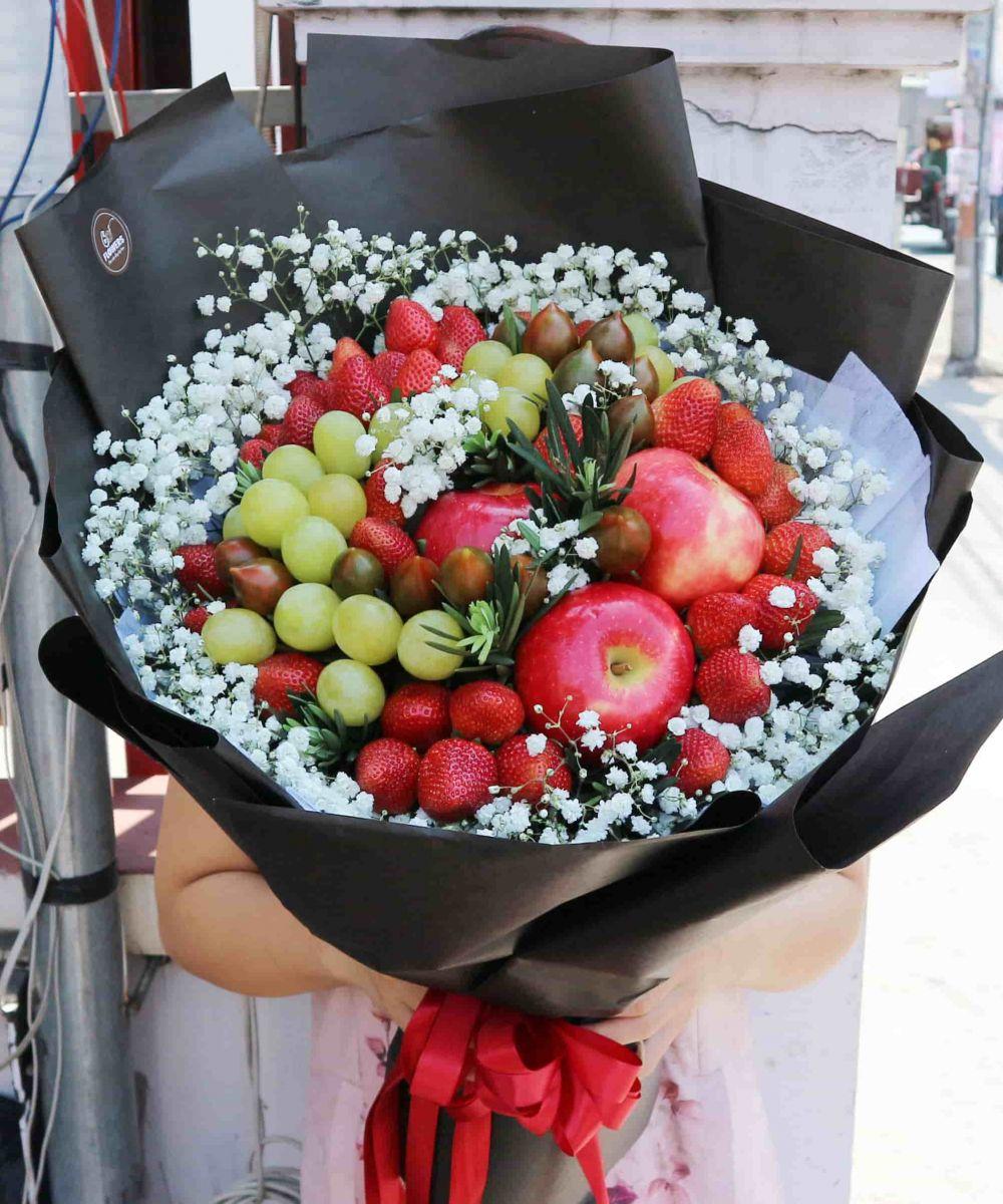 bó hoa trái cây