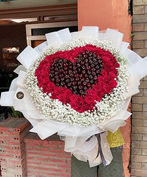 Bó hoa cherry 45