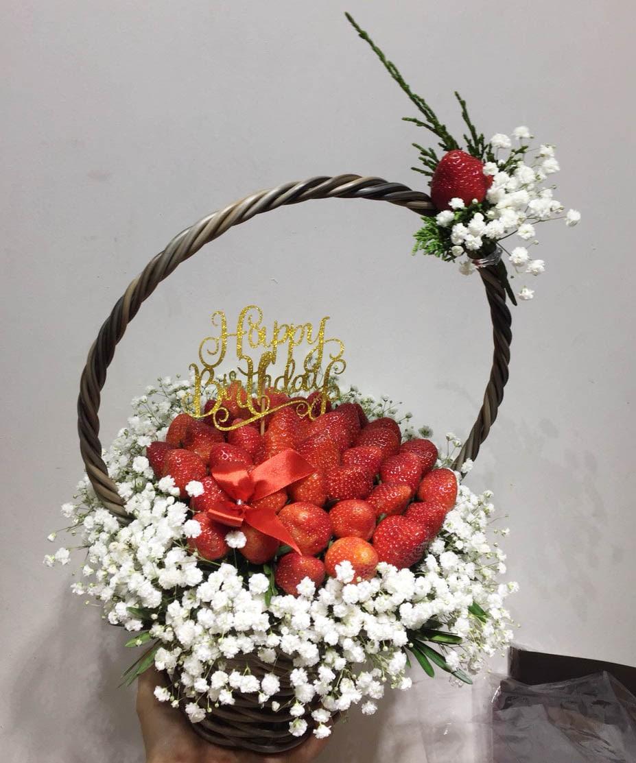 Giỏ hoa dâu tây 18